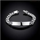 10M牛皮手链-男款 外贸几何银饰索链手链