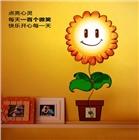 向日葵3D墙纸壁灯卧室床头灯