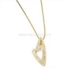 韩版饰品环保电镀金色合金镶钻项链